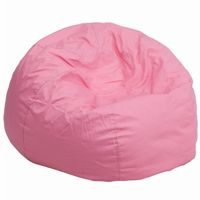 Large Kids Bean Bag Chair Solid Pink DG-BEAN-LARGE-SOLID-PK-GG
