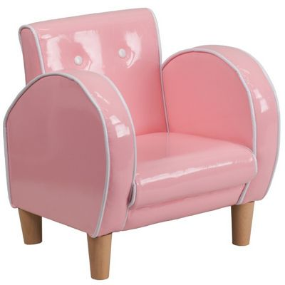 Pink Kids Chair in Vinyl HR-15-GG