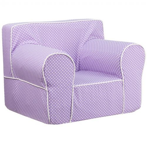 Lavender Kids Chair With White Dots Amp Piping Dg Lge Ch Kid