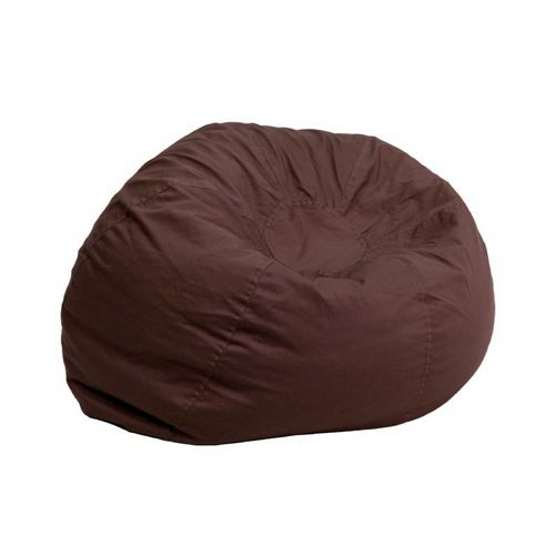 Small Kids Bean Bag Chair Solid Brown DG-BEAN-SMALL-SOLID-BRN-GG