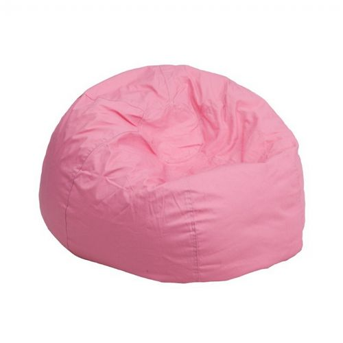 Small Kids Bean Bag Chair Solid Pink DG-BEAN-SMALL-SOLID-PK-GG