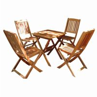 Malibu 5-Piece Wood Outdoor Patio Bistro Set V03SET2