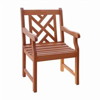 Malibu Modern Outdoor Garden Armchair - Wood V187