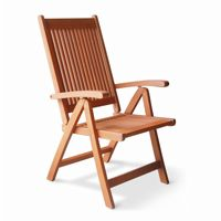 Malibu Outdoor 5-Position Wood Reclining Chair V145