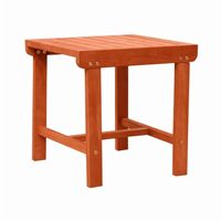 "Malibu Outdoor Patio Wood 18"" × 18"" Side Table V1802"