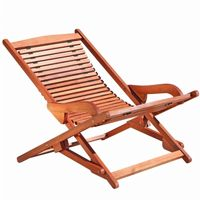 Malibu Outdoor Wood Folding Lounge Chair V157