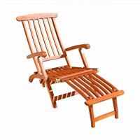 Malibu Outdoor Wood Folding Steamer Lounge V156