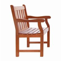 Malibu Slatted Outdoor Garden Armchair - Wood V209