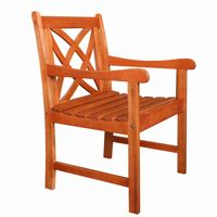 Malibu Traditional Outdoor Garden Armchair - Wood V1495