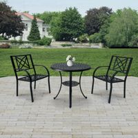 Paracelsus Outdoor Patio Aluminum 3-piece Bistro Set V1809SET1