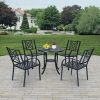 Paracelsus Outdoor Patio Aluminum 5-piece Dining Set V1809SET2