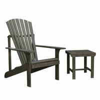 Renaissance Adirondack Wood 2-Piece Conversation Set - Vista Gray V1843SET8