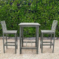 Renaissance Outdoor Bar Set 3 Piece - Vista Gray V1355SET2