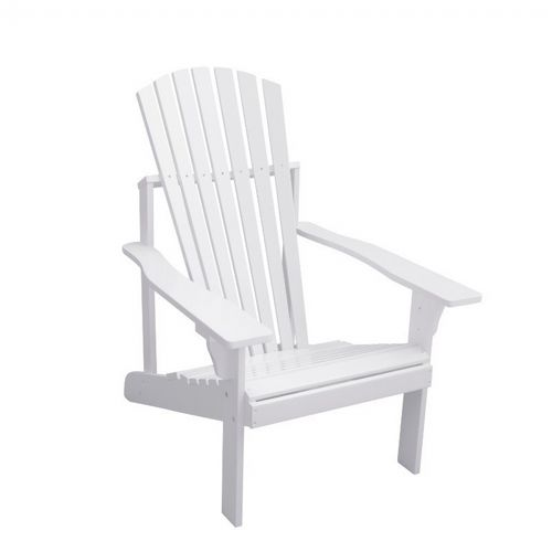 Bradley Adirondack Outdoor Patio Wood Chair - White V1824