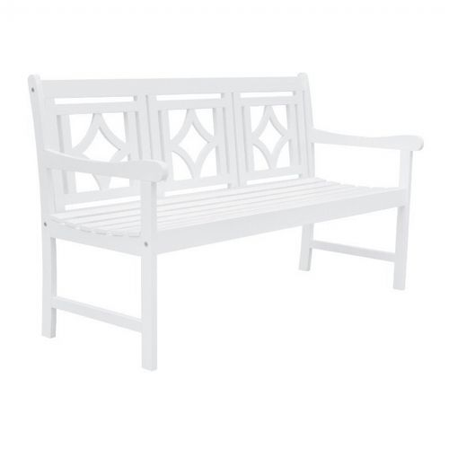 Bradley Diamond Outdoor Patio 5ft Bench - White V1831