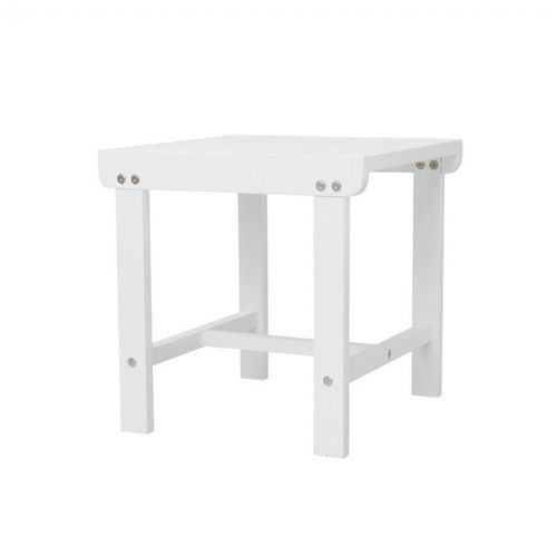 Bradley Square Outdoor Patio Wood Side Table - White V1844