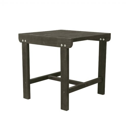 Renaissance Adirondack Wood Side Table - Vista Gray V1843