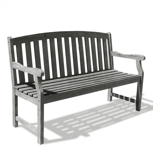 Renaissance Classic Outdoor Patio 5ft Garden Bench - Hand-scraped Wood V1333