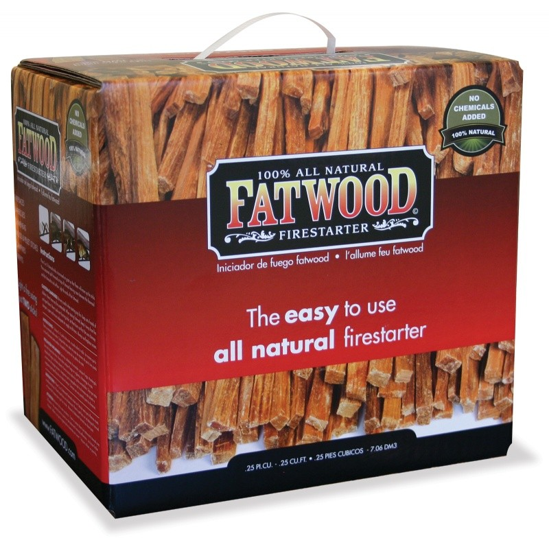 10 Pounds Fatwood Bundle In Color Carton : Fire Pits & Fireplaces