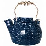 Porcelain Coated Kettle-Blue With White Speckles 2.5 Quart BR-C-1923