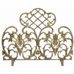 Single Panel Antique Gold Cast Aluminum Screen BR-S-5502