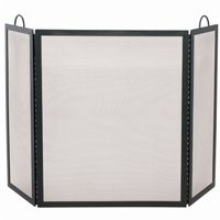 3 Fold Black Wrought Iron Large Screen BR-S-1505