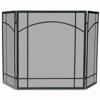 3 Fold Black Wrought Iron Mission Screen BR-S-1023