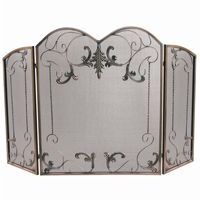 3 Fold Venetian Bronze Screen With Leaf Scrolls BR-S-1645
