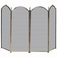 4 Fold Antique Brass Screen (S-4114) BR-S41010AB