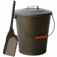 Bronze Finish Ash Bin With Lid And Shovel BR-C-1726B