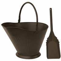 Bronze Finish Coal Hold And Shovel BR-C-1713