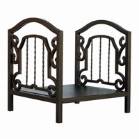Bronze Log Rack With Arched Center BR-W-1611