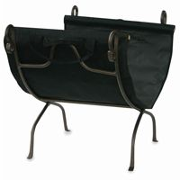 Bronze Wrought Iron Log Rack With Canvas Carrier BR-W-1617