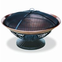 Copper Fire Pit with Decorative Base 30 inch BRWAD653S
