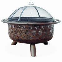 Oil Rubbed Bronze Outdoor Fire Pit BRWAD792SP
