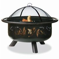 Oil Rubbed Bronze Outdoor Fire Pit with Swirl Design BRWAD900SP