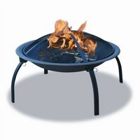 Portable Camping Firepit With Folding Legs BRWAD996SP