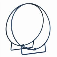 Wrought Iron Black Log Rack Hoop 36 inch BR-W1836