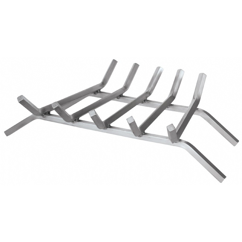 "23"" 5-Bar 304 Stainless Steel Bar Grate : Fire Pits & Fireplaces"