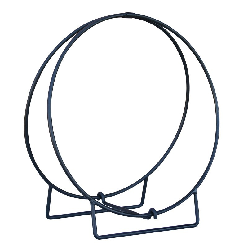 "24"" Black Log Hoop - 1/2"" Solid Stock : Fire Pits & Fireplaces"