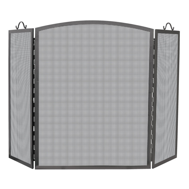 3 Panel Olde World Iron Arch Top Screen, Medium