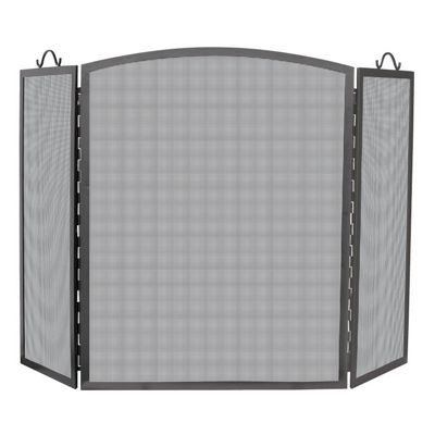 3 Panel Olde World Iron Arch Top Screen, Medium BR-S-1166