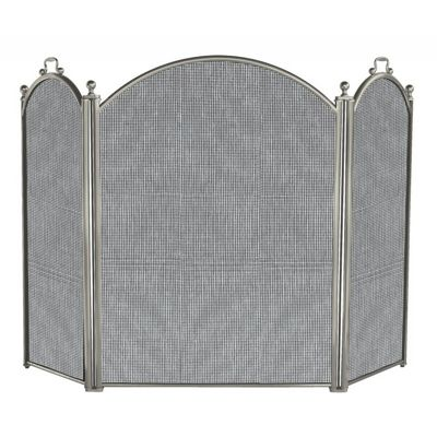 3 Panel Satin Pewter Large Diameter Folding Screen BR-S-7539
