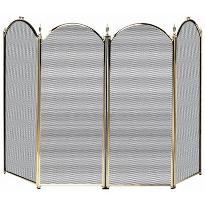 4 Fold Polished Brass Screen (S-2113) BR-S41010PB