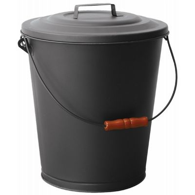 Black Ash Bin With Lid BR-C-1709B