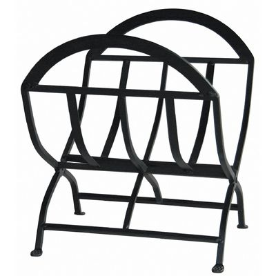 Black Wrought Iron Log Rack BR-W-1038