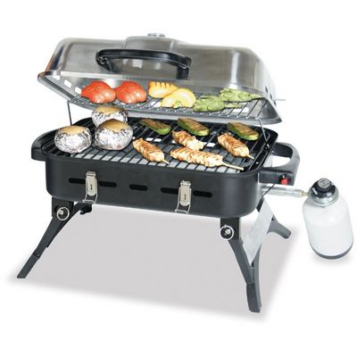 Delicieux Blue Rhino Stainless Steel Portable LP Gas Grill