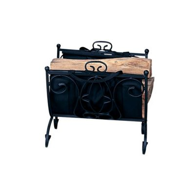 Heavy Weight Black W. I. Log Holder With Canvas Carrier BR-W-1199