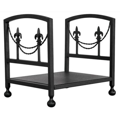 Olde World Iron Fleur-De-Lis Log Rack BR-W-1456