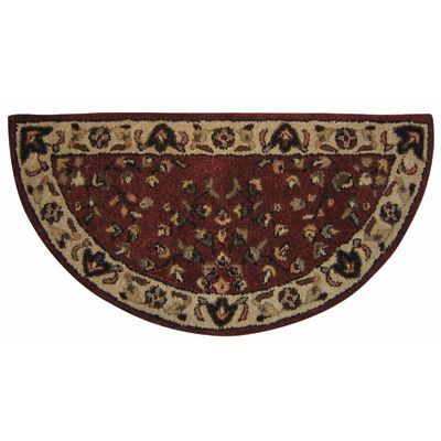 Red With Beige Hand-Tufted 100% Wool Hearth Rug BR-R-2000